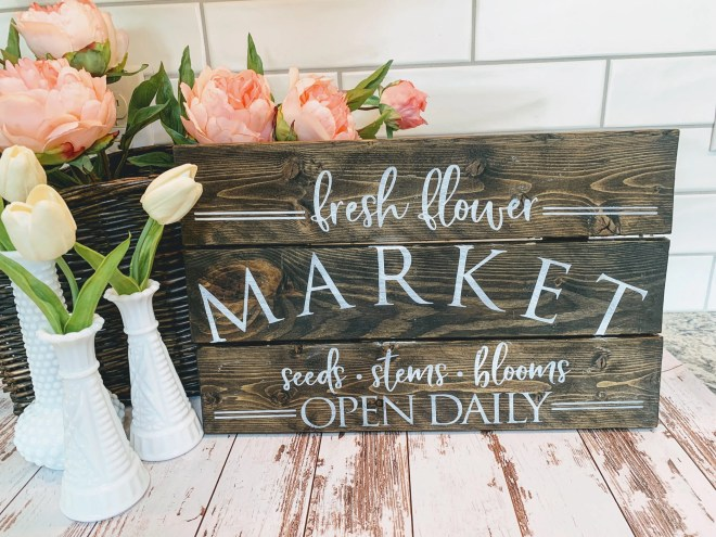 DIY Thrift Store Farmhouse Sign Makeover finished