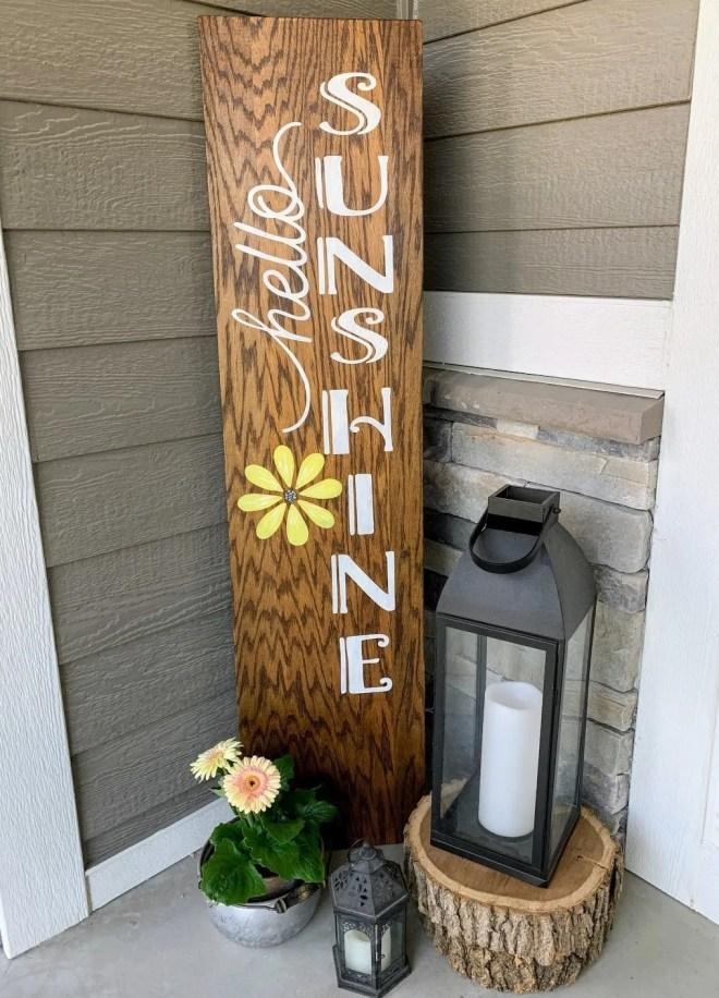 Hello Sunshine DIY Reversible Porch Sign