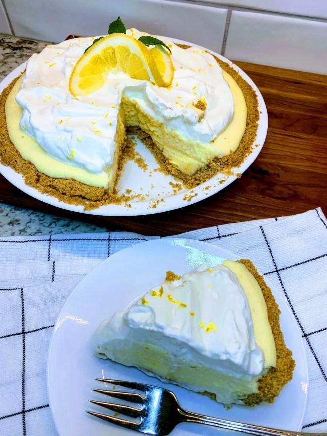 A slice of Magnolia Lemon Pie.