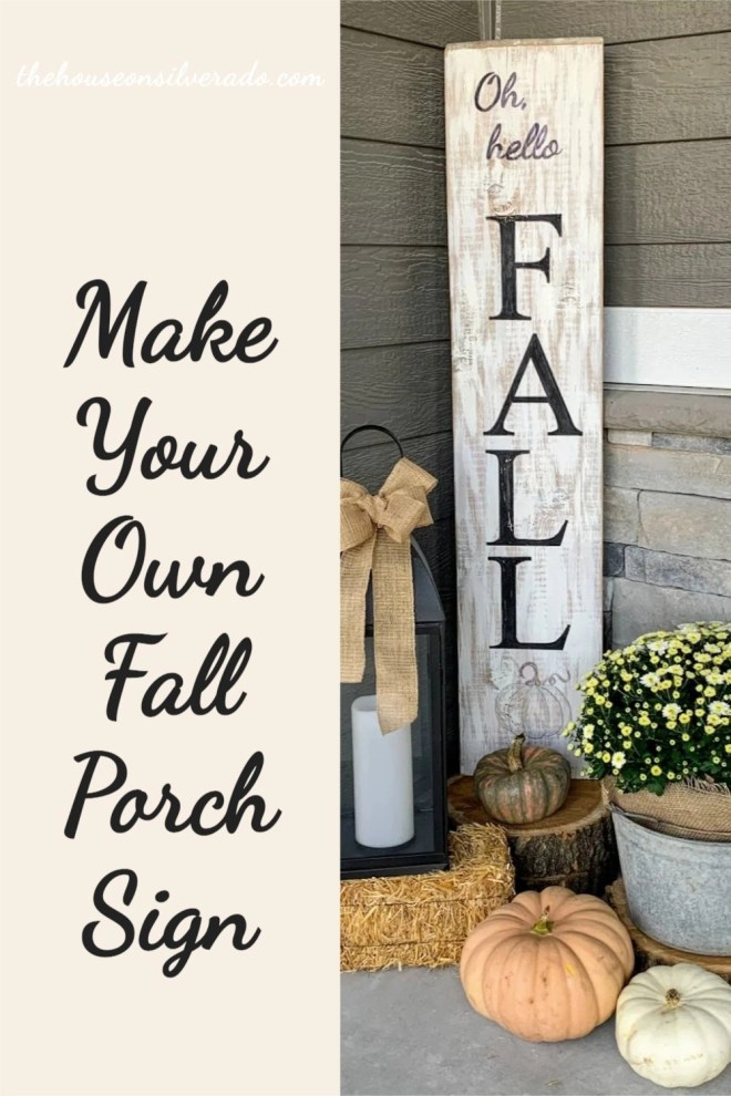 Make Your Own Fall Porch Sign