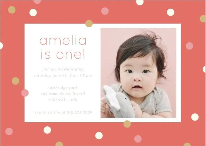 First Birthday invites from Basic Invites