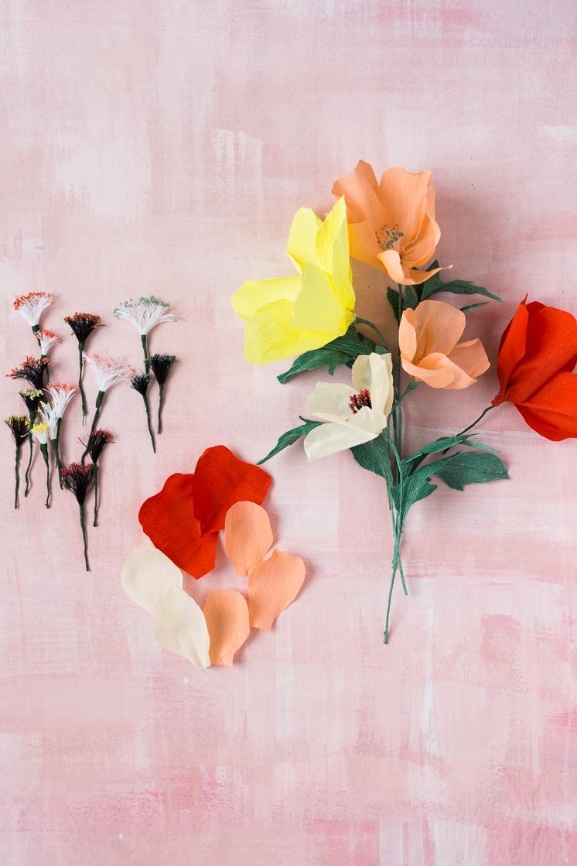 paper flower stamens