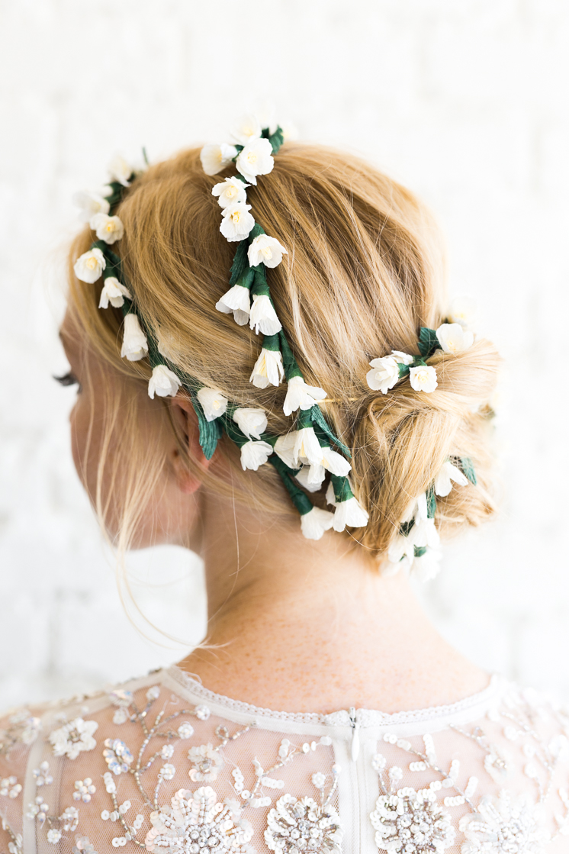 Paper Flower Bridal Hair Piece The House That Lars Built