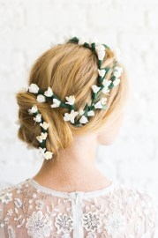 paper flower bridal hair piece