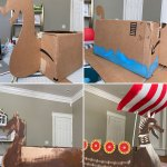Jasper S Viking Cardboard Box Costume The House That Lars Built