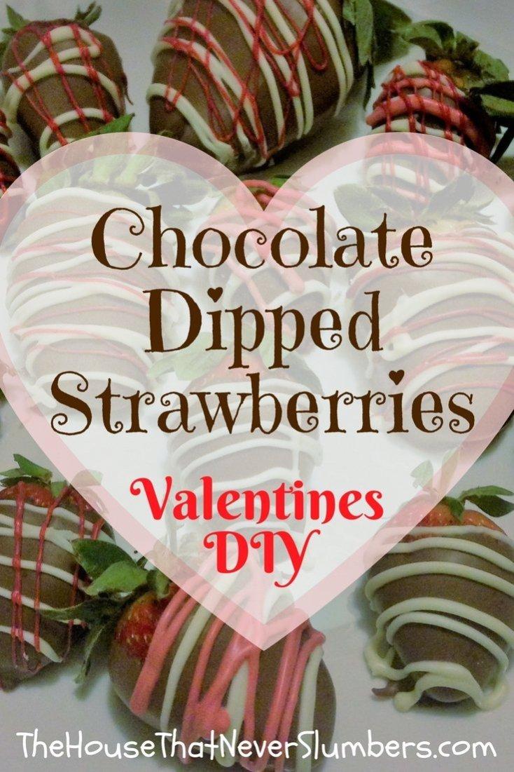 Chocolate Dipped Strawberries DIY Valentines - Pinterest 2