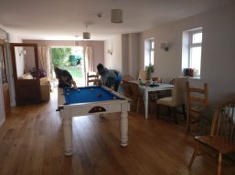 Pool in the dining room