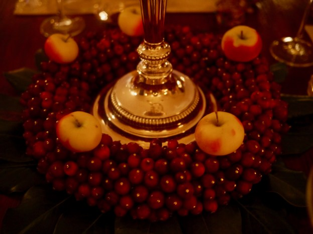Fresh Cranberry and Lady Apple Centerpiece