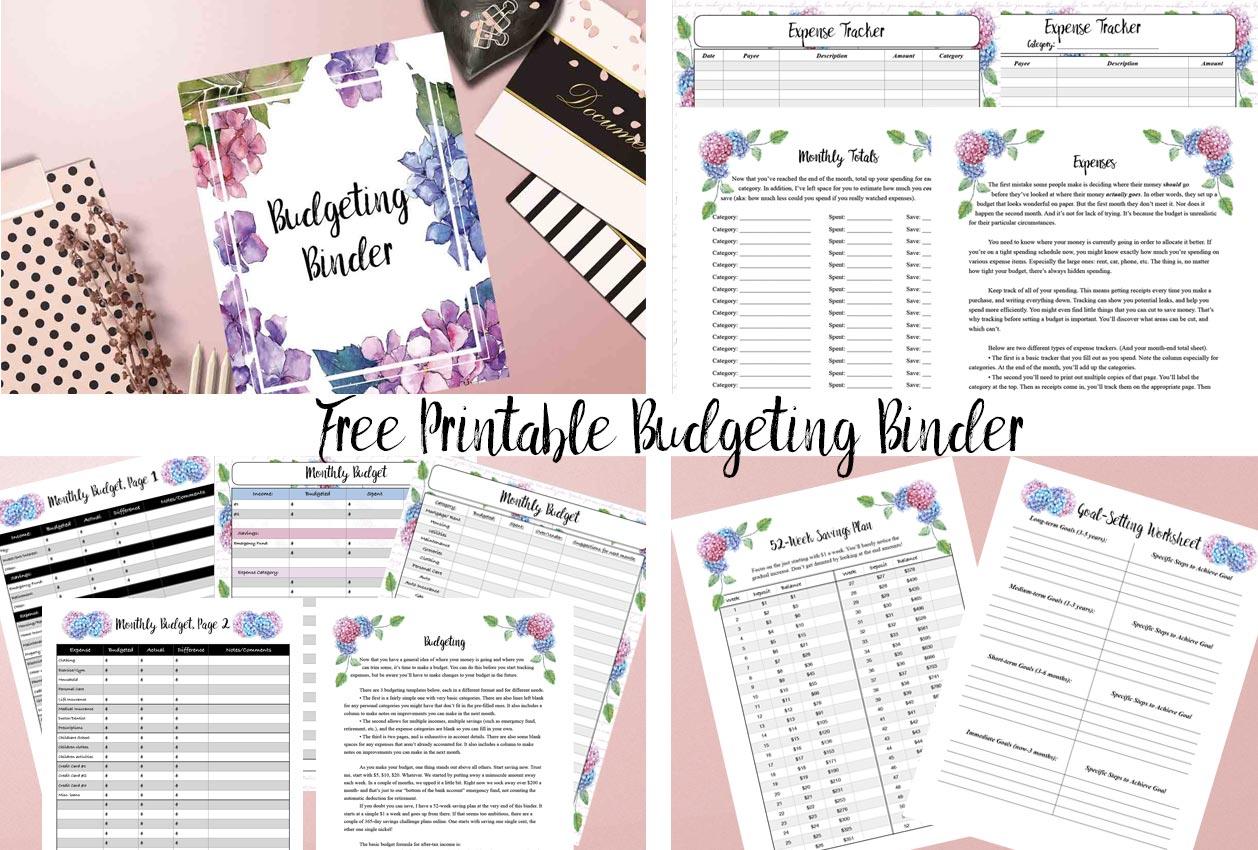 Free Printable Budget Binder Worksheets That Are
