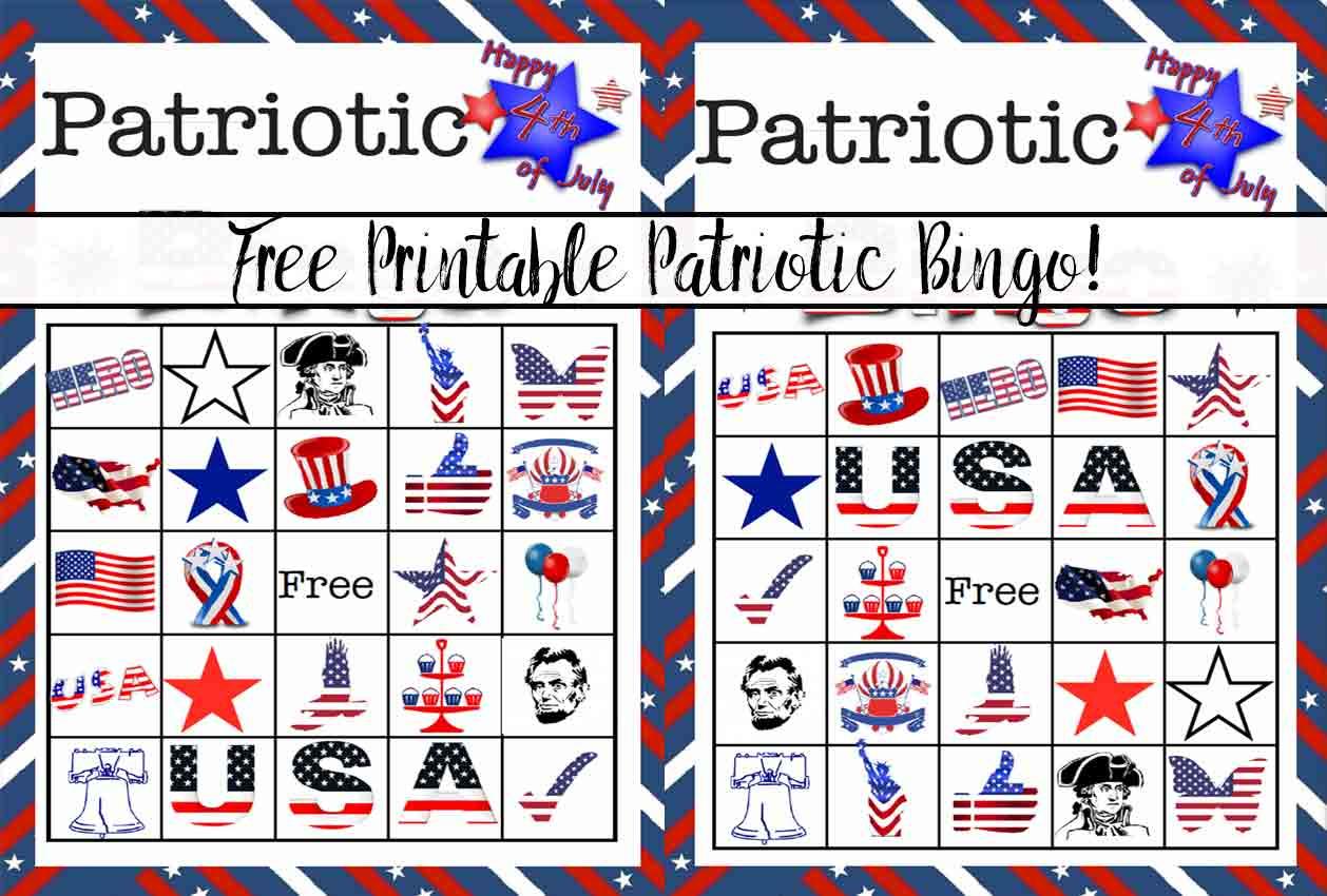 Free Printable 4th Of July Patriotic Bingo