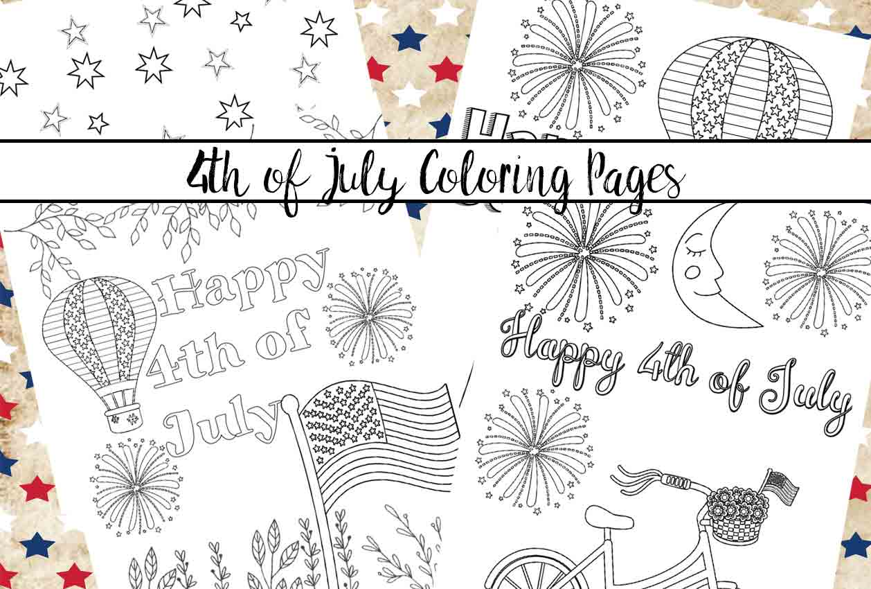 Free Printable Fourth Of July Coloring Pages 4 Designs