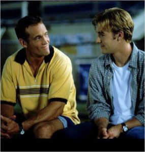 Shipp and Van Der Beek in a heart-to-heart moment.