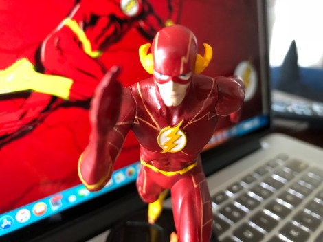"Front View of ""The Flash"" figurine."