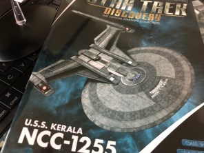 The model comes with a magazine detailing the new Starfleet vessel.
