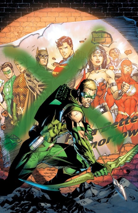 The Justice League teams up with Green Arrow