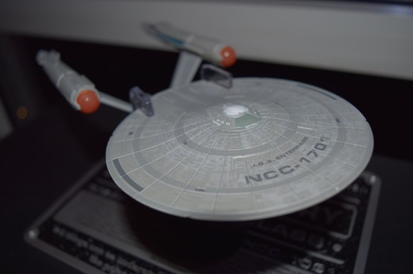 """The USS Enterprise as it will appear this season on """"Star Trek: Discovery"""" is a new model from Eaglemoss."""