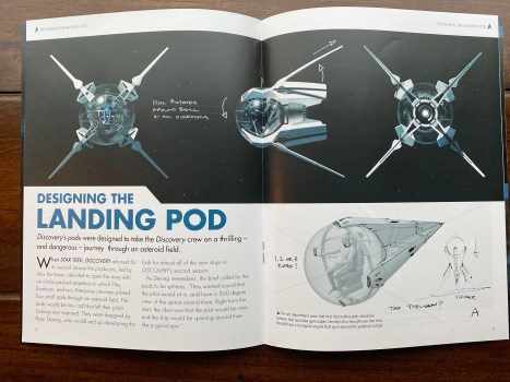 Inside the magazine details the design approach to creating the vessel as it appeared in the episode.