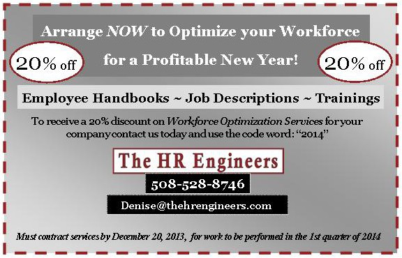 Save 20% on Employee Management Services for 2014 by booking now