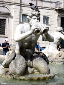 fontana fountain moro navona rome italy