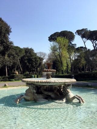 villa borghese fountain fontana cavalli marini rome italy