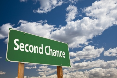 Second Chance Sign in the clouds symbolizing the need to hire a qualified Houston Pretrial Intervention Lawyer