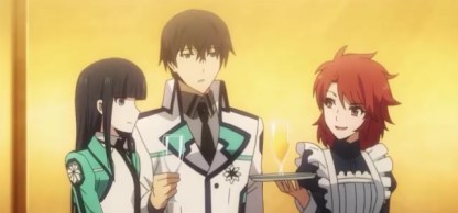 The Irregular at Magic High School Episode 10-Erika in a waitress outfit Part 1