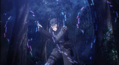 A player about to be struck by Tatsuya's magic-The Irregular at Magic High School anime series