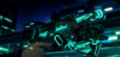 Psycho-Pass 2 Episode 1-Tsunemori engages the Dominator [Scene 1]