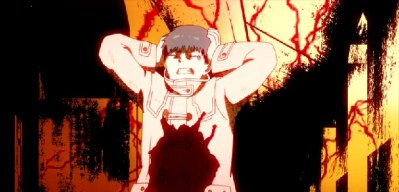 Tokyo Ghoul Episode 2-Kaneki trying to stop his Ghoul side