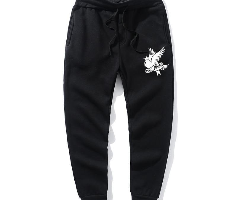 2020Love Lil.Peep Men's Women's Pants Multi-pocket Hip Hop Pants Men's Pants Men's Jogging Clothes Bird Print Pants Sweatpants