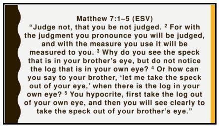Matthew 7-1-5