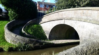 One of Telford's roving bridges on the Macclesfield Canal