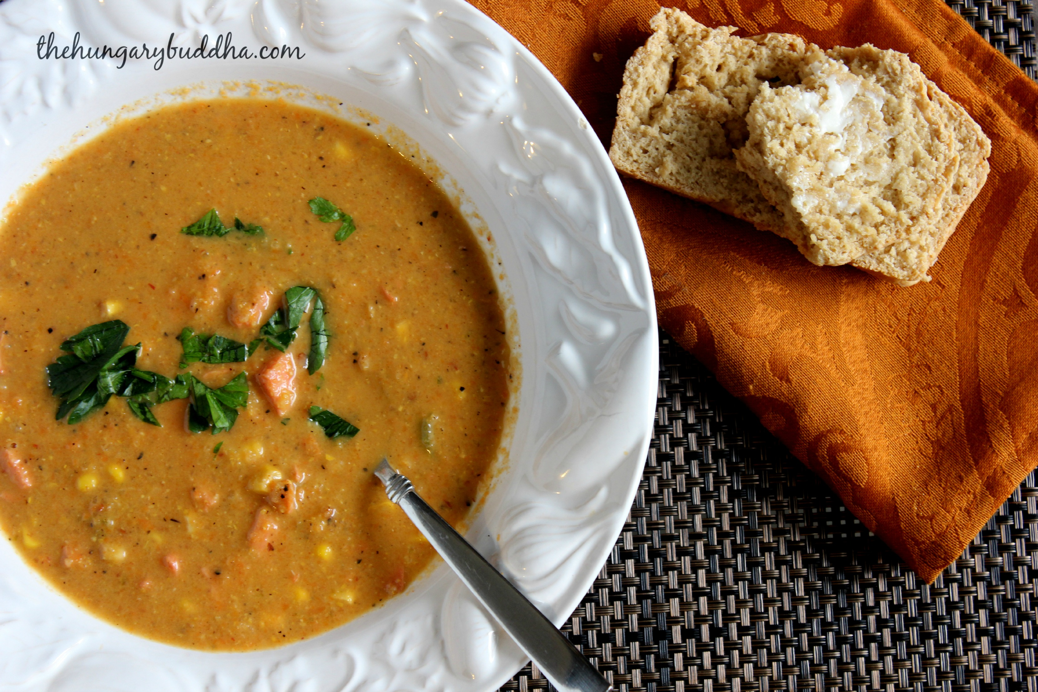 Saturday Supper: Alaskan Beer Bread and Spicy Smoked Salmon Chowder