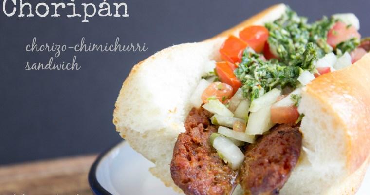 Hey, Argentina:  Choripán, or a Chorizo-Chimichurri Sandwich