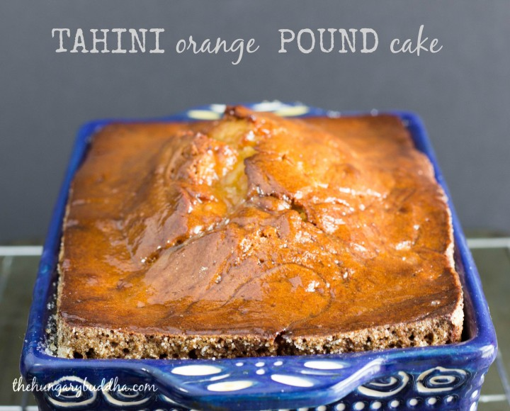 Tahini Orange Pound Cake