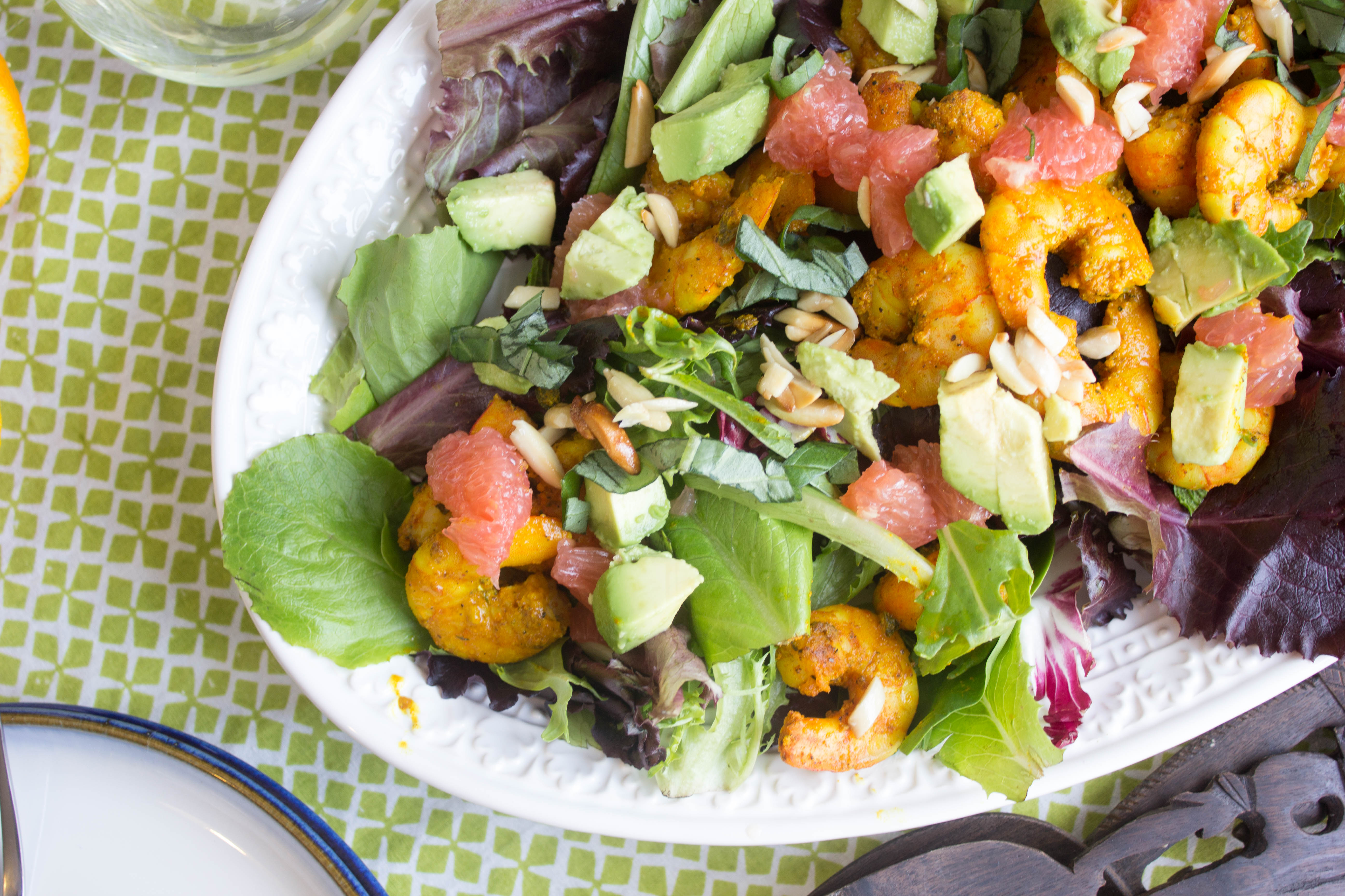 Caribbean Shrimp Salad with Grapefruit and Avocado