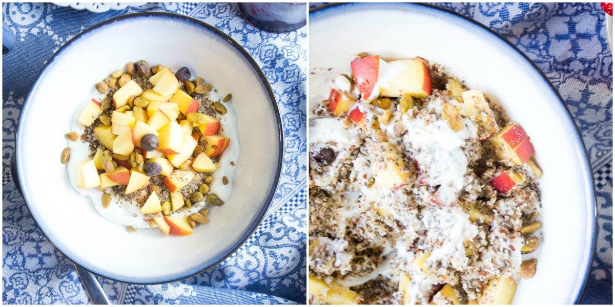 Almond meal breakfast bowl