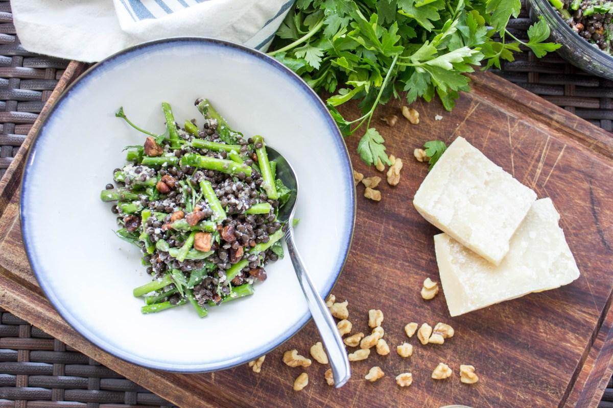 Asparagus and Lentil Salad