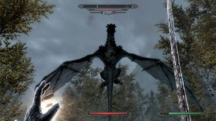 Fighting a dragon