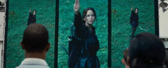 Movie Still: Katniss Salute