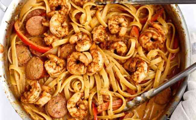 Creamy Cajun Shrimp Pasta With Sausage Recipe