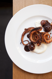 Octopus with Potatoes and Caramelized Cauliflower