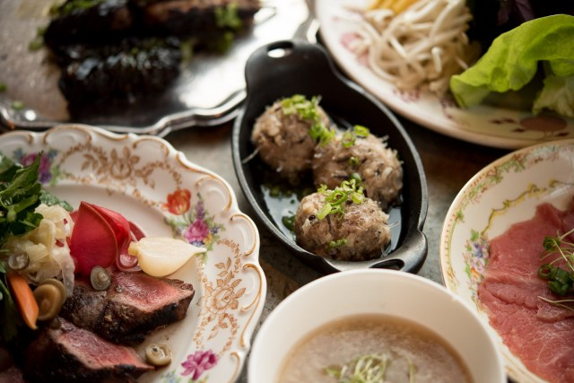 seven beef Vietnamese dinner