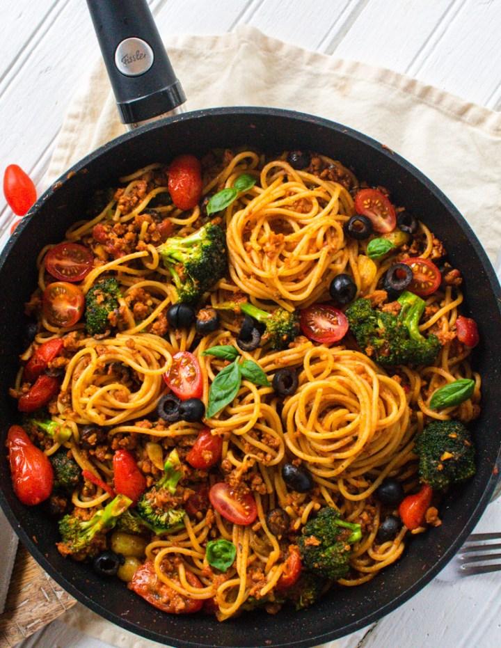 Vegan Bruschetta Pasta