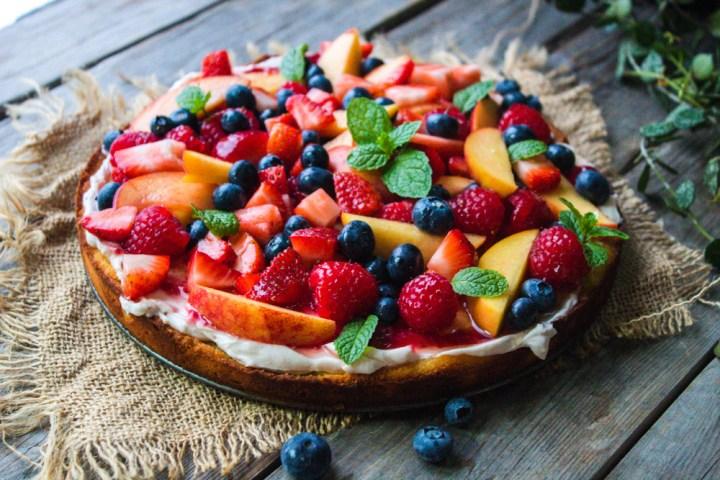 Fresh Fruit Tart – Low Carb, Gluten-Free & Healthy
