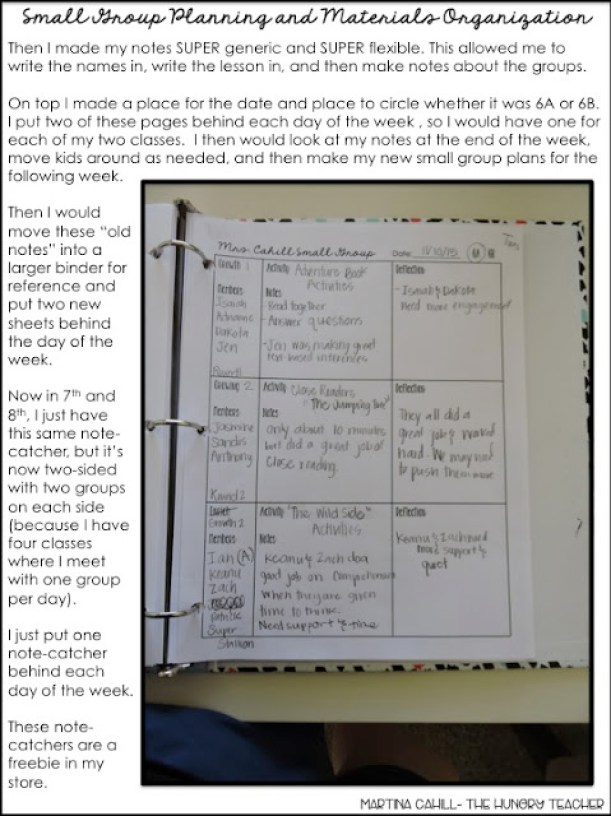 Classroom Organization in the Upper Grades {Part 5 of 5} - The
