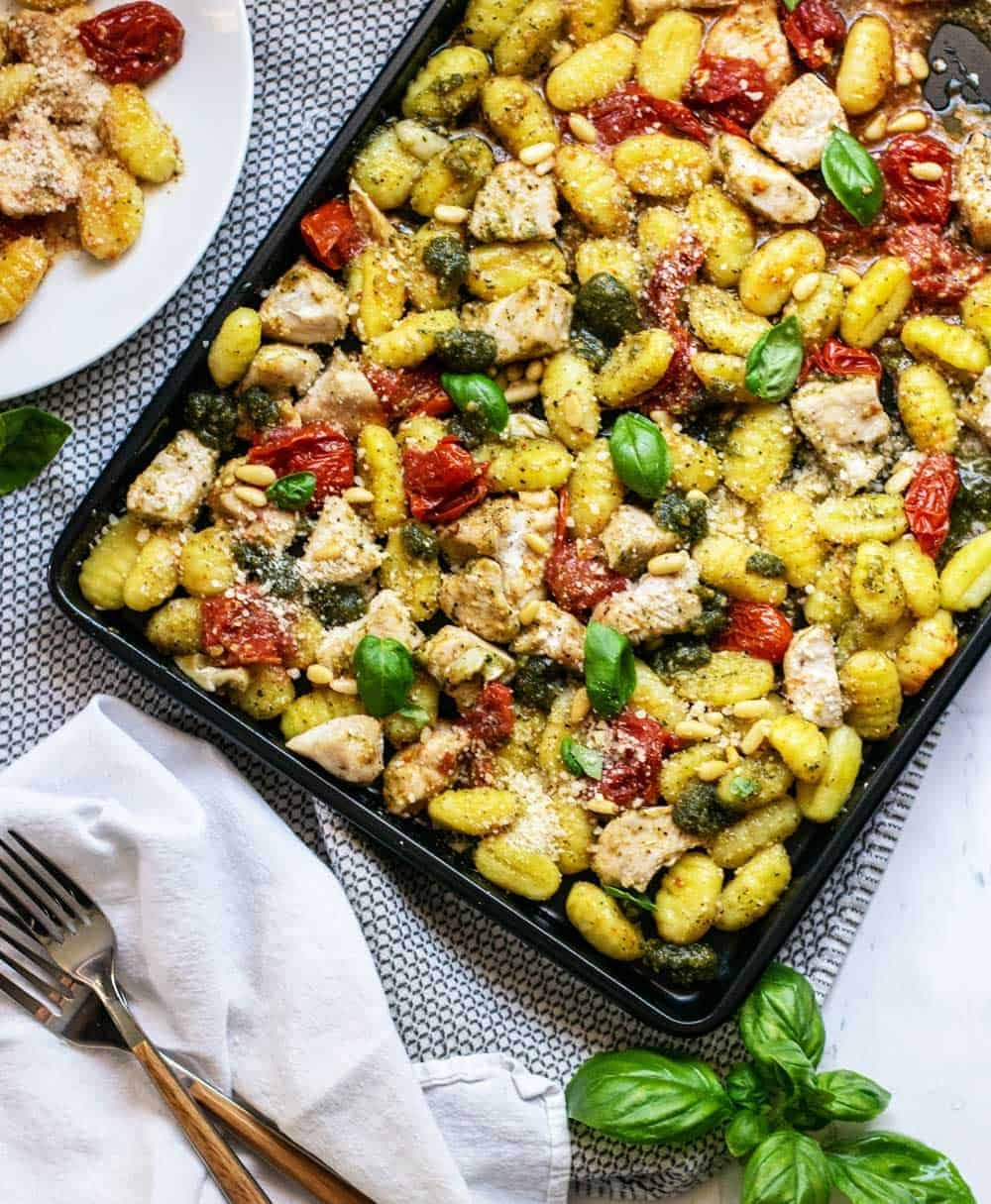 Chicken and Gnocchi Sheet Pan