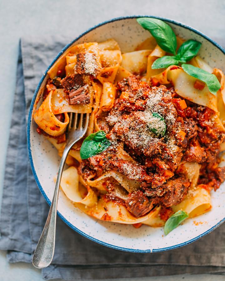 recept - vegan - jackfruit - pasta