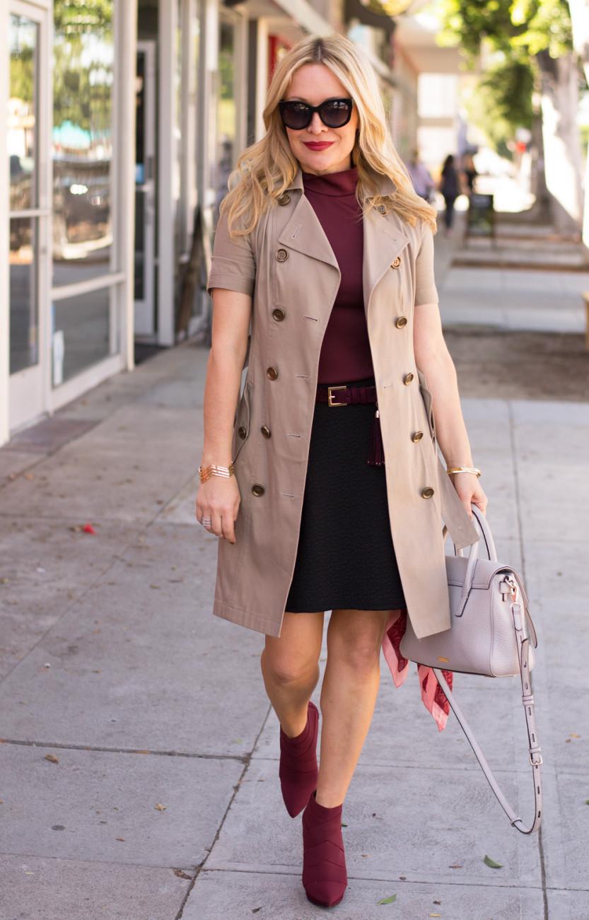 Brown Boots Tweed Skirt