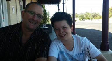 Ray and Liam at pub
